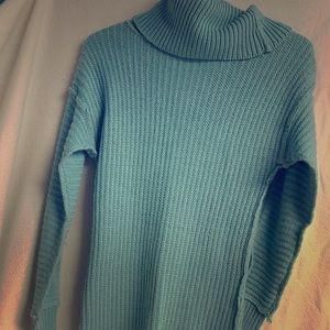 Suzy Shier Light Blue Sweater Dress